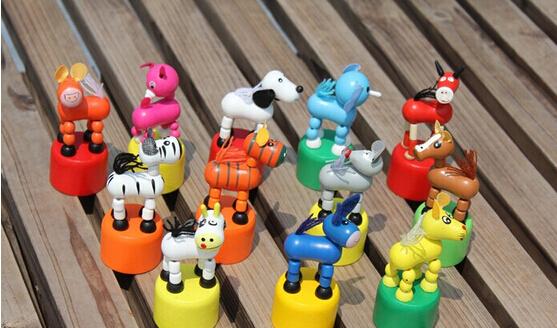 Animals station barrel wooden puzzle toys for children creative toy rocking animals 12 pcs WJ-070(China (Mainland))