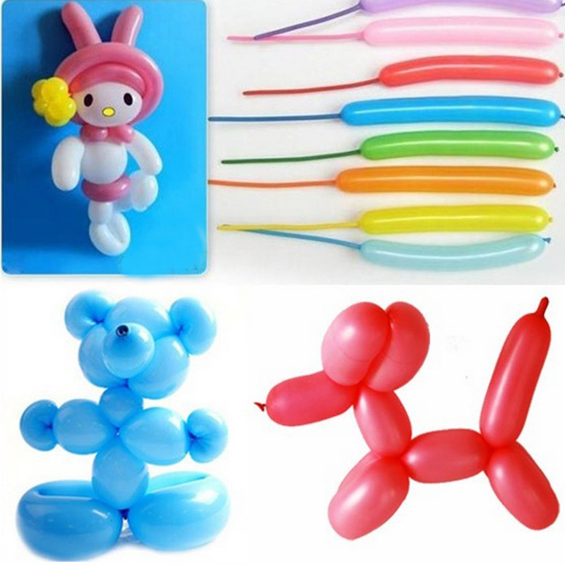 Colorful Latex Long Balloons Assorted Party Favors Decor #5330(China (Mainland))