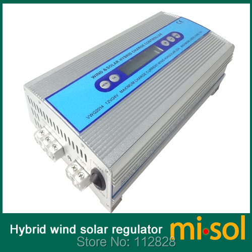 Hybrid Wind solar charge controller, Solar Charge Controller, wind regulator, 12V 24V wind charge controller(China (Mainland))