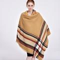 140 140cm Brand Cashmere Scarf Plaid Designer Acrylic Blanket wrap Warm Winter Scarf Shawl For women