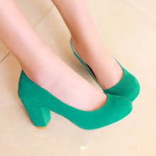 New Spring autumn women s shoes Concise ol work Slip On high heels customize small yards