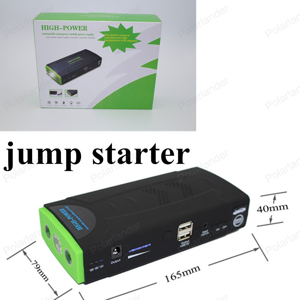 hot sell 12V portable mini jump starter 50800mAh car jumper power bank booster power battery charger mobile phone laptop(China (Mainland))