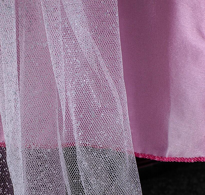 2016 High Quality Baby Girls Cinderella Dresses Children Cartoon Princess Dresses Rapunzel Aurora Kids Party Costume Clothes 09A