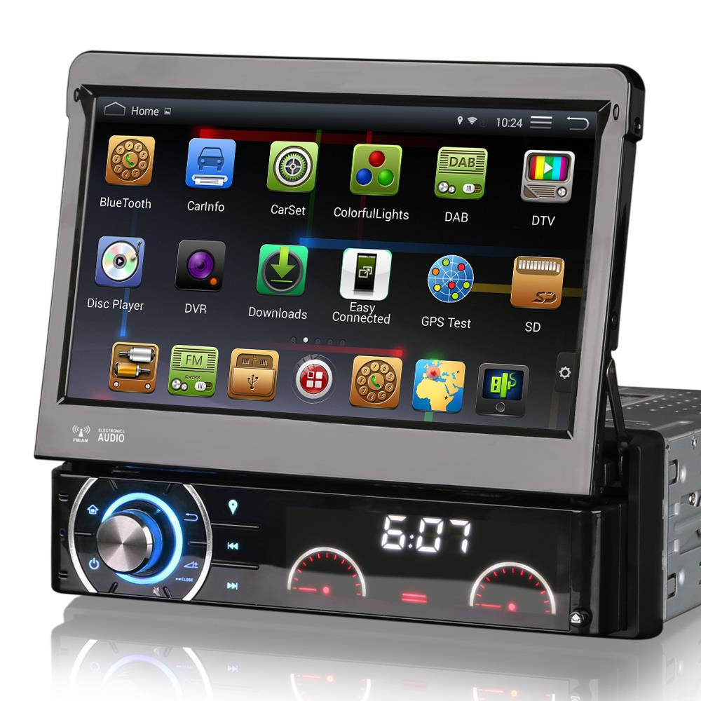 """7"""" Quad Core Android 4.4.4 OS 1 Din Car DVD One Din Car Radio Single Din Car Multimedia System with External DAB+ Tuner Support(China (Mainland))"""