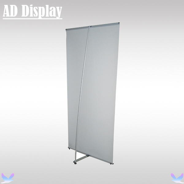 Wholesale 10PCS 80*200cm High Quality Portable Aluminum L Banner Stand,Exhibition Booth Advertising Display Equipment(China (Mainland))