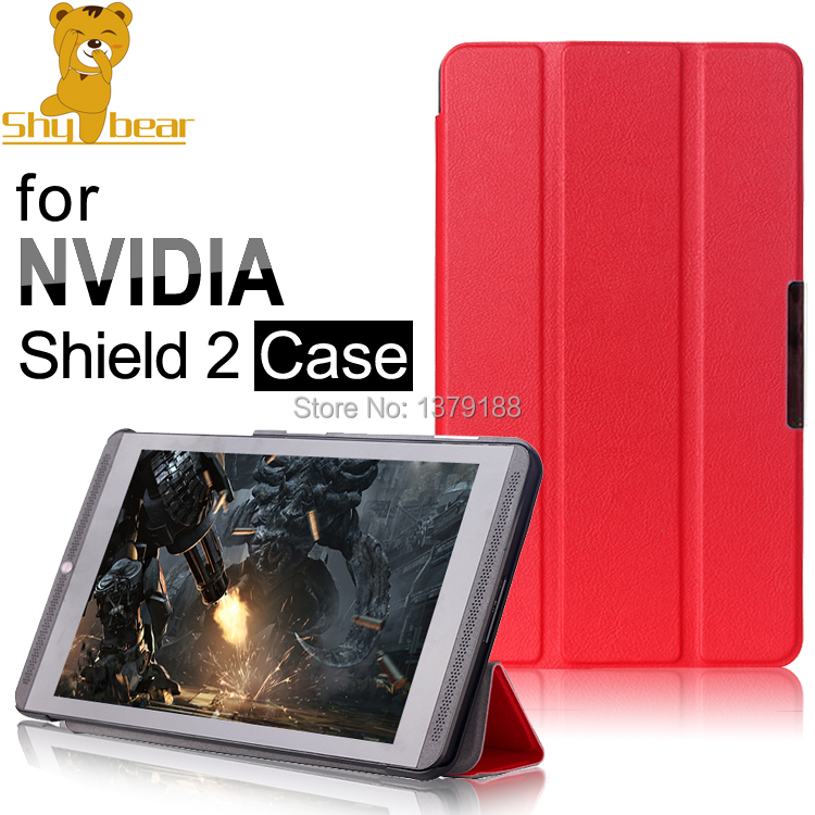 Гаджет  New arrival case for NVIDIA Shield 8, Triangle folded Leather Case cover For NVIDIA Shield 2 8.0 inch Game Tablet free shipping None Компьютер & сеть