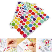 น่ารัก6แผ่นที่มีสีสันหัวใจดาวสติกเกอร์วางแผนไดอารี่S Crapbookอัลบั้มภาพตกแต่งรูปลอกเด็กของขวัญ(China (Mainland))