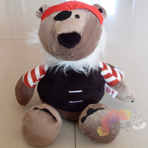 Discount Hot Sale Nici Pirate plush toy bear children birthday gift 1pc(China (Mainland))