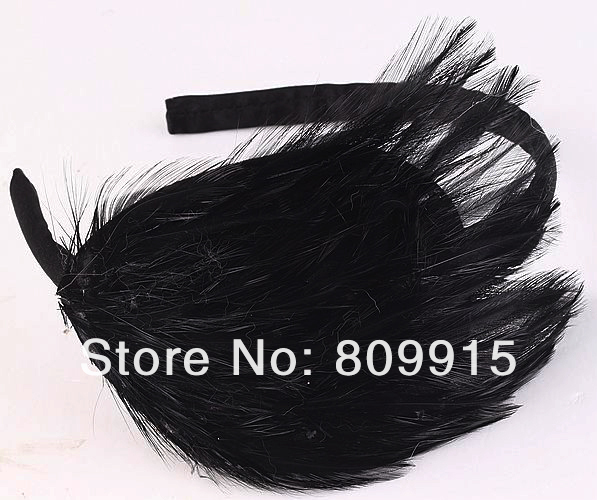 1pc/lot Hollywood Star Style Feather Headband Unique Hair Accessories J0638-9(China (Mainland))