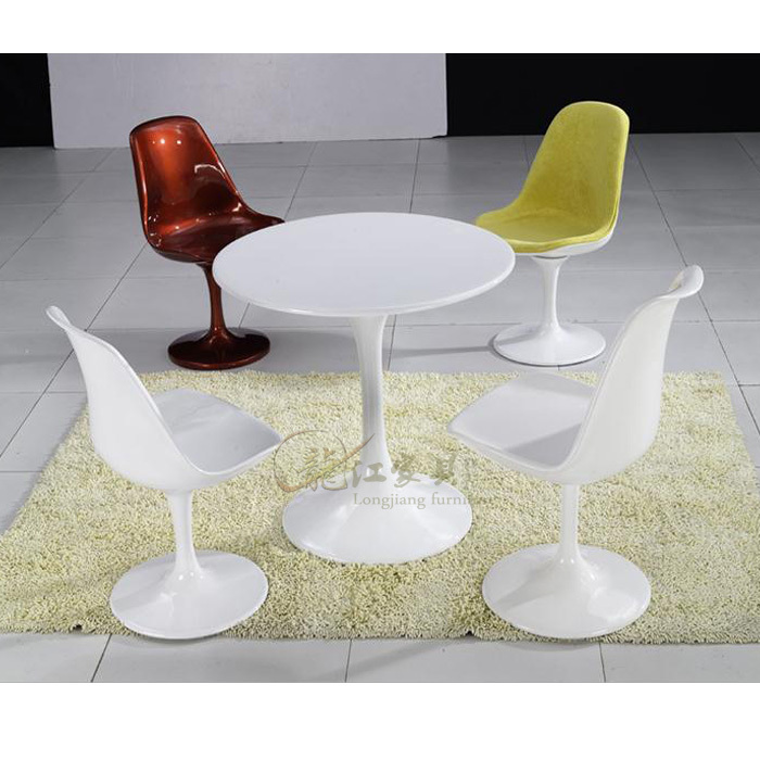 Fashion fiberglass tulip round table small apartment minimalist white round table small dining - Round kitchen tables for small spaces minimalist ...