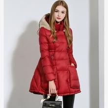 2015 Winter New Cape-Style Down Jacket Fashion Detachable Fur Hat Korean Down Coat Big Size Long Section Waist Down jacket