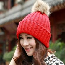 Lady Sweet Winter Warm Crochet Knitted Beret Ski Beanie Ball Caps Knitted Hat #68729(China (Mainland))