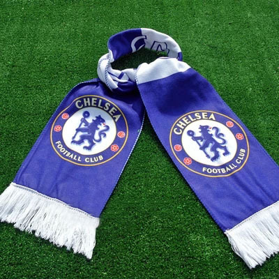 Wholesale Soccer Club Badge Chelsea Scarf Sport Fashion Football Team Logo Chelsea Scarves Neckerchief For Fans(China (Mainland))