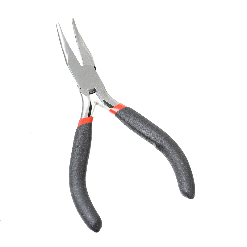 """Free shipping! Needle Nose Pliers Curved Jewelry Making Black 12.5cm(4 7/8""""),1 Piece (B33701)(China (Mainland))"""