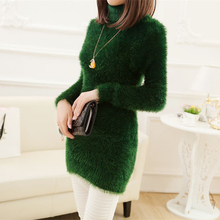 Women Casual Turtleneck Sweater Winter 2015 New Fashion Brand Free Size Multicolors Long Thick Sweaters Pullover Tricotado 348(China (Mainland))