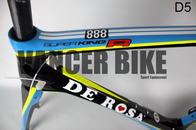 Bicycle Derosa D5 yellow&blue carbon road frames Manufacturer in China bike frames(China (Mainland))