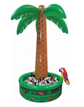 2016 New Hawaii Series Large Inflatable Coconut palm Tree Drinks Cooler Ice Bucket For Sandbeach Party Decorations Supplies(China (Mainland))