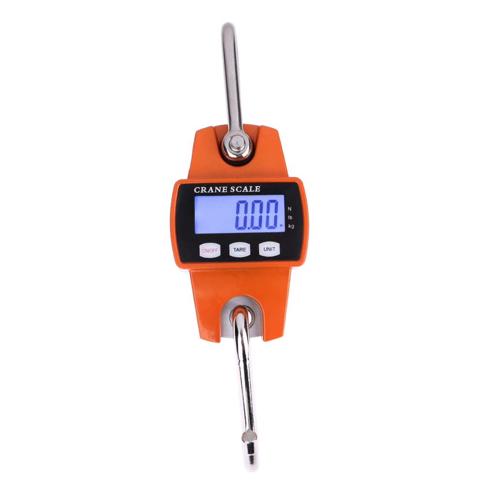 2017 New 300kg/600lb Mini Industrial Crane Scale Portable LCD Digital Electronic Hook Hanging Weight Scales NG4S