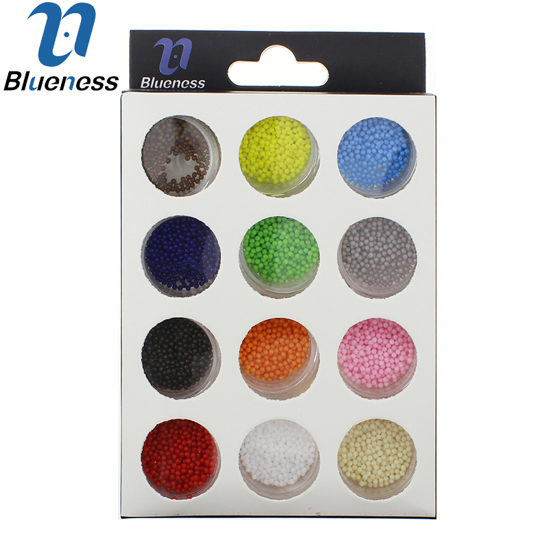 12 Candy Colors Microbeads Decorations For Nail Art 3D Fashion DIY Manicure Accessories Multicolor Acrylic ZP228<br><br>Aliexpress