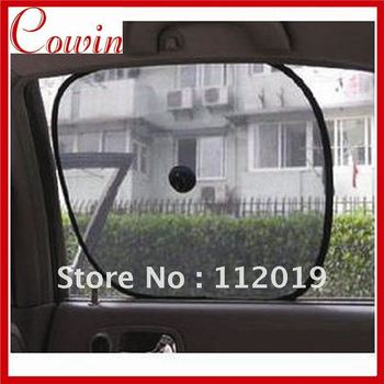 10pair/Lot Foldable Car Side Window Screen Mesh Sunshade Sun Shade Free Shipping