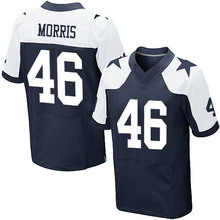 Men's #46 Alfred Morris Elite Navy Blue Throwback Alternate Football Jersey 100% stitched(China (Mainland))