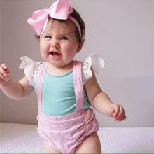 EMS DHL Baby Girls 2016 Summer Style Lace T Shirt Cute Candy Color Vest Soft cotton 6 Colors Infant wear - Miss Girls-- Factory Children Clothes store