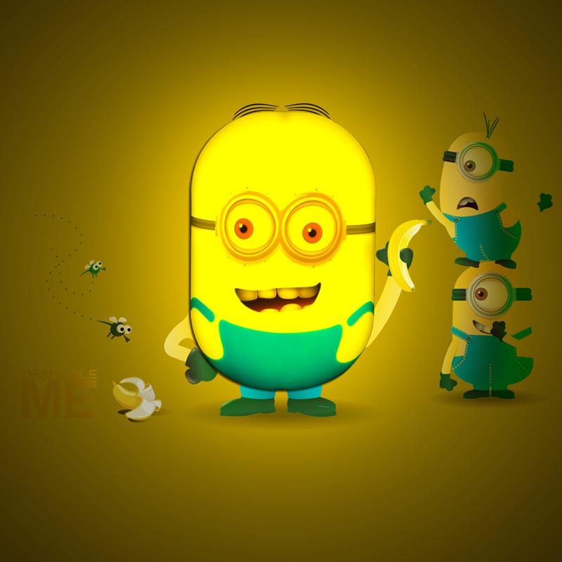 Novelty Led Night Lamp Minions Small Yellow Carton Led Lights Auto Sensor Smart Baby Sleeping Beside Lights AC110V 220V Lampada(China (Mainland))