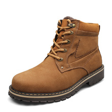 2015 Winter Size 37-50 Men's Genuine Leather Boots Plus Size Cowhide Men Boots Ankle Motorcycle Boots For Men(China (Mainland))