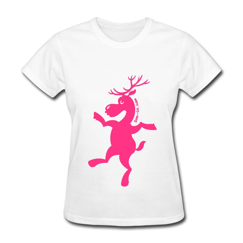 Top Rated Round Neck T Shirt Womens Christmas Reindeer Exercising Designed T Shirts for Girls