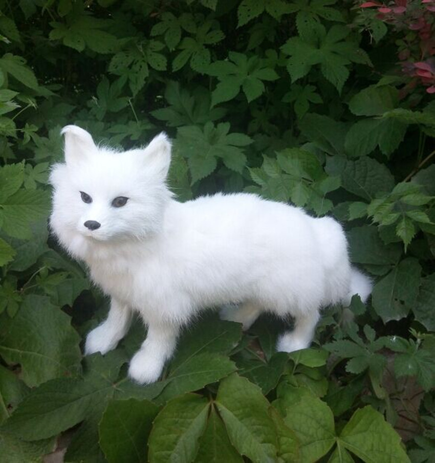 Здесь можно купить  new walking simulation fox toy resin&fur fox white fox doll gift about 35x22cm  Игрушки и Хобби
