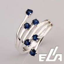 925 Silver Ring With Crystals Pave Purple Cubic Zircon Stone Nickel Free mix colors Jewelry full
