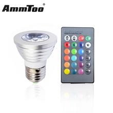 Buy 1PCS E27 RGB LED Lamp 4W LED RGB Bulb Spotlight Lamp 110V 127V 220V 240V Remote Control 16 Color Change Lampada LED Luz for $2.91 in AliExpress store