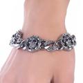 Fashion Punk Skull Stainless Steel Charm bracelet for Women DIY Bracelets Bangles Charms Bracelets Men Pulseira