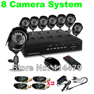 8CH D1 HDMI H.264 Network DVR 480TVL CCTV Camera Home Security Standalone System iPhone Android Phone Remote View - REDEAGLE-Security Solutions store