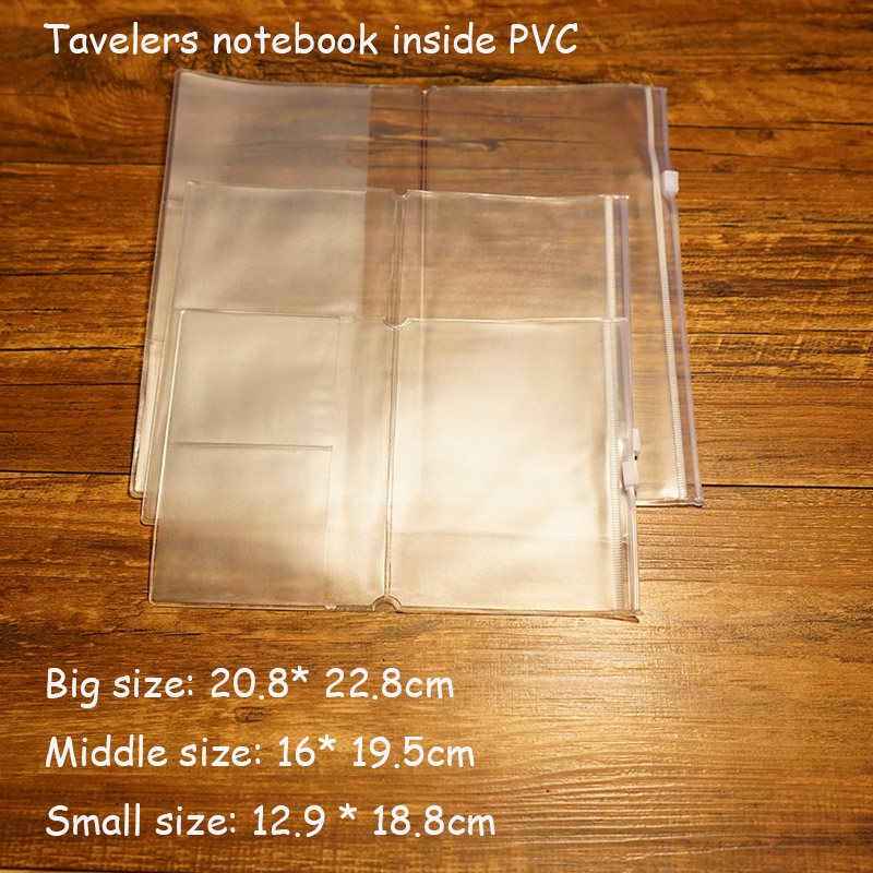 Tavelers notebook inside PVC page paer filler papers have 3 types size install tavelers notebook school