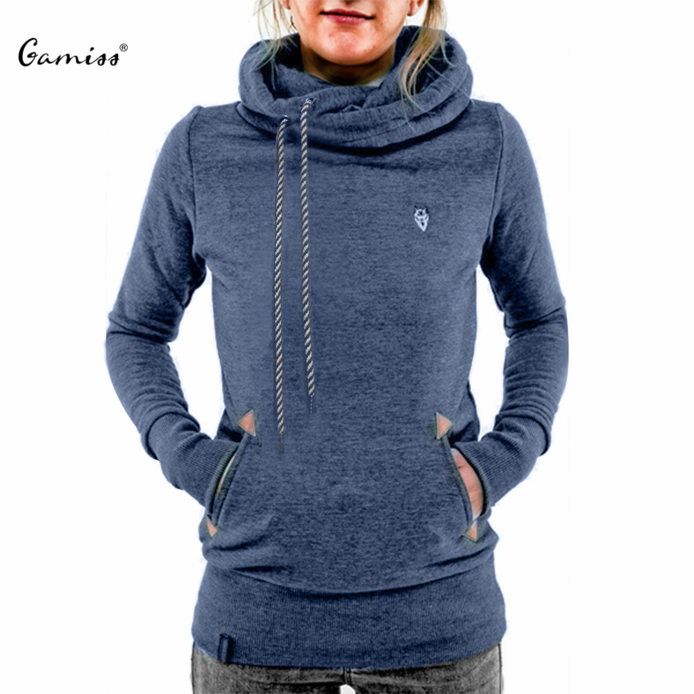 2015 Women Hoodies Sweatshirt Casual Hooded Long Sleeve Pocket Design Embroidered Hoodie For Women Sudaderas Mujer(China (Mainland))