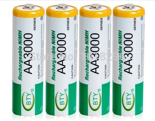 12 x AA 3000mAh 1 2 V Quanlity Rechargeable Battery AA 3000mAh BTY NI MH 1