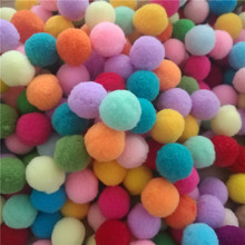 Buy 50 Pcs 20mm Small Multicolour DIY Decoration Pompom Fur Ball Plush Ball Handmade Material Early Learning Creative Handmade Ball for $1.39 in AliExpress store