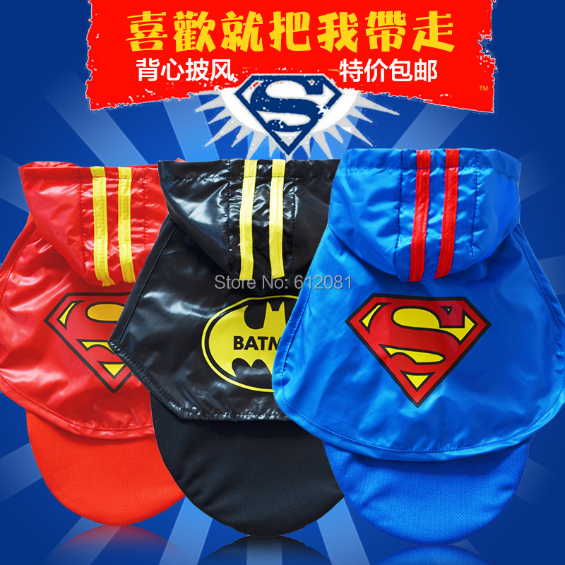Free shipping new style pet dog clothes spring and autumn teddy bear vip clothing super man vest mantissas(China (Mainland))