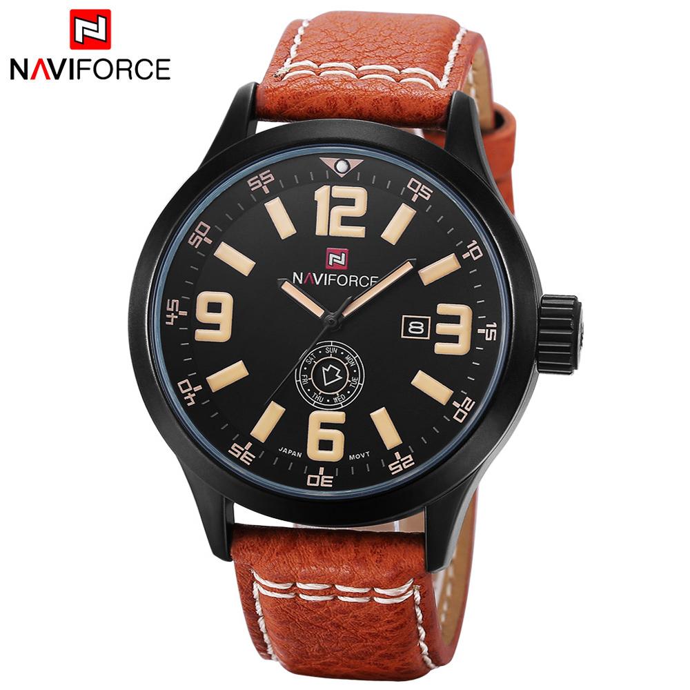 relogio masculino military casual relojes Genuine Leather calendar Men's Quartz Watch Sports Watches fashion Men Wristwatch 2015