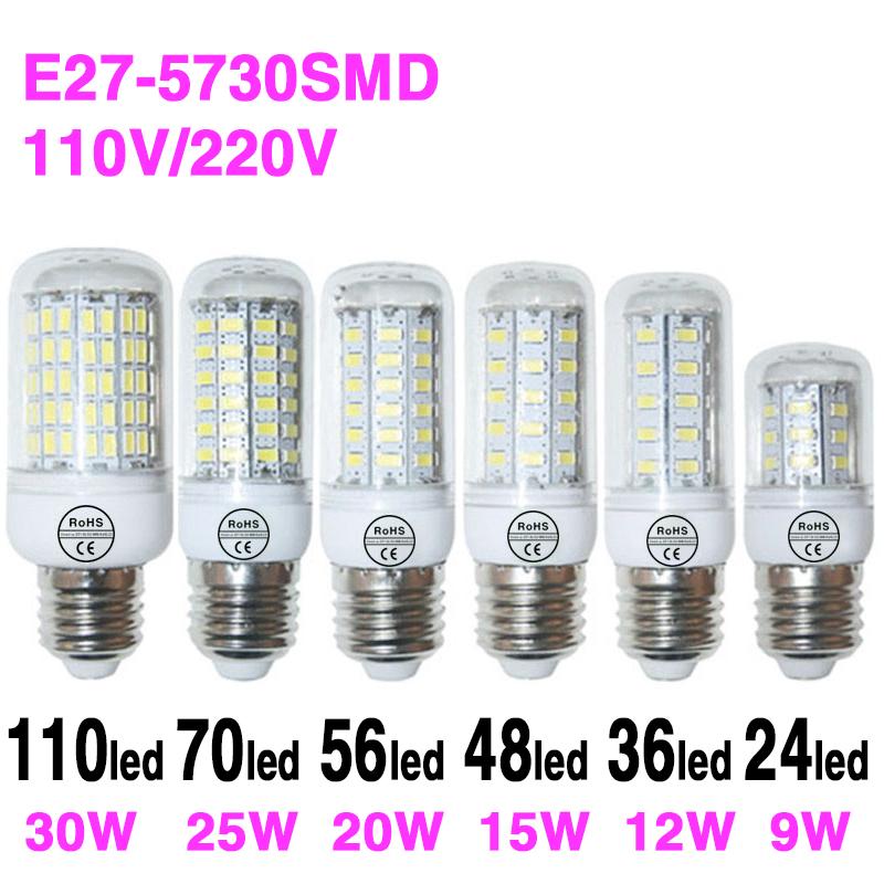 Lampada Led E27 3W 9W 12W 15W 20W 25W 30W SMD 5730 Ball Bulb Lamps 220V/110V Chandelier Candle ...
