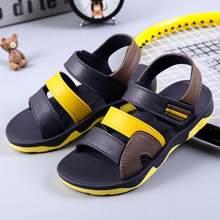 ילדי נעלי קיץ בני סנדל זכר תלמיד החלקה גומי קוריאני מותג שקופיות ילדים של נעלי נעל Sandalia Infantil אופנה(China)
