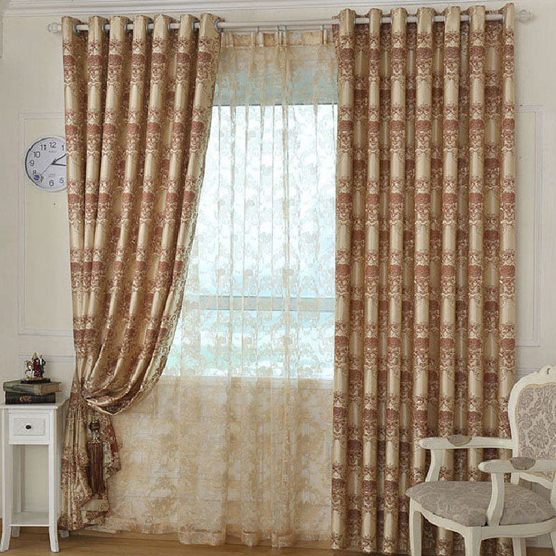Cafe curtains living room traditional with botanical home for Space curtain fabric