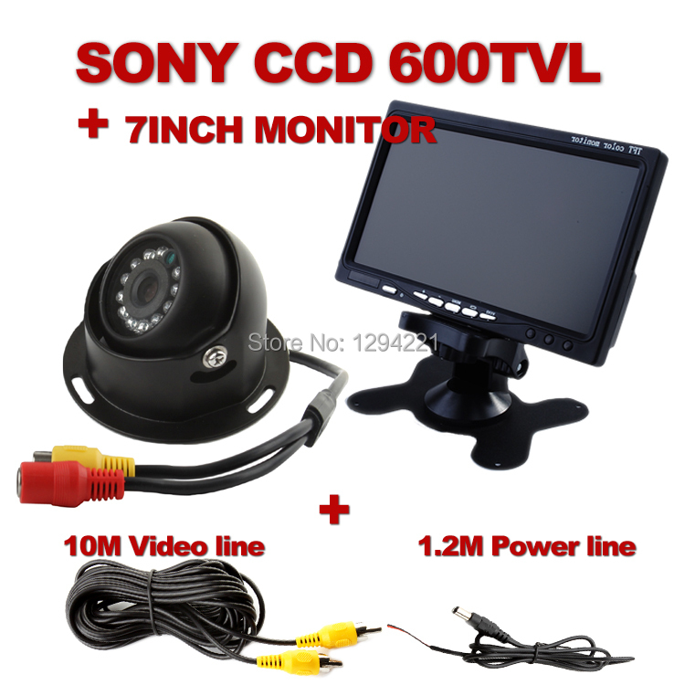 Sony  CCD 600TVL Waterproof  10 IR led Night vision Reverse Backup Camera for Bus Truck +7Inch car Monitor(China (Mainland))