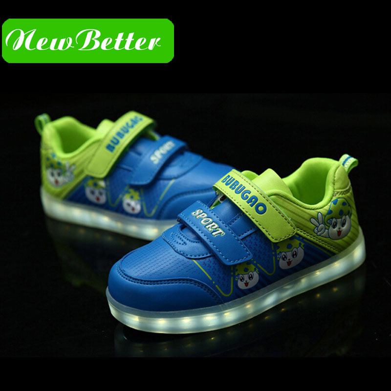 Children USB charging light shoes sport boy with wings of light flash shoe girls LED charging shoes<br><br>Aliexpress