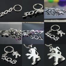 3D Hollow Series Car Logo Keychain Key Chain Keyring Ring Keyring Key Fob For Peugeot 207 206 308 3008 408 508(China (Mainland))