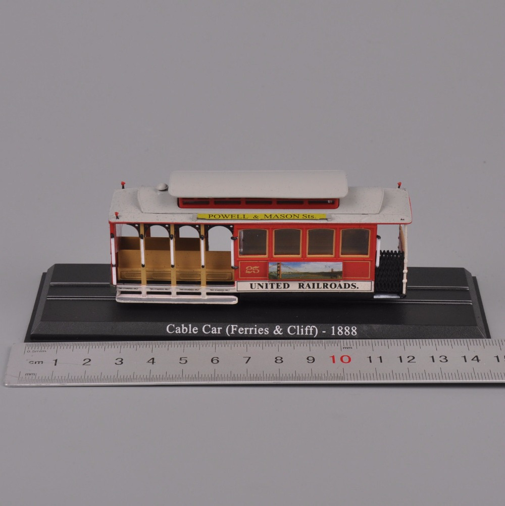 Collectible Atlas Tram 1/87 Scale Diecast Model Cable Car United railroads Ferries Cliff -1888 Train Bus Kids Toys Gift With Box(China (Mainland))