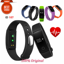 ID107 Bluetooth 4.0 Smart Bracelet Smart Band Heart Rate Monitor Wristband Fitness Tracker for Samsung S7 IPhone 6S