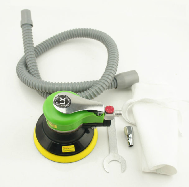 "High Quality 5"" Sin Self-vacuum Air Sander with Steel Rotor Pneumatic Orbital Polisher Polishing Machine Tool(China (Mainland))"