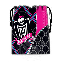 H-P763 Custom Monster high#7 drawstring bags for mobile phone tablet PC packaging Gift Bags18X22cm SQ00806#H0763(China (Mainland))